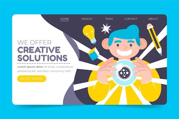 Página inicial de soluções criativas orgânicas
