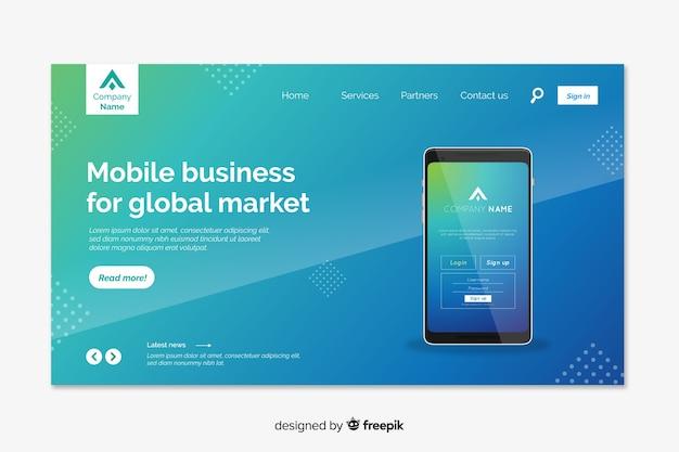 Página inicial de tecnologia com smartphone