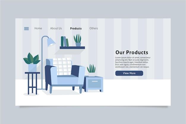 Página inicial de venda de móveis