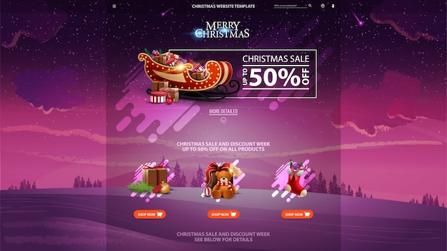 Página inicial de venda de natal