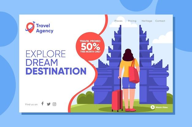 Página inicial de venda de viagens