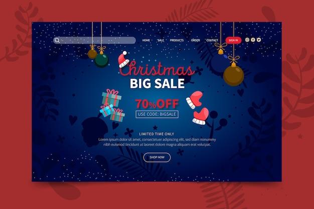 Página inicial de vendas de natal Vetor grátis