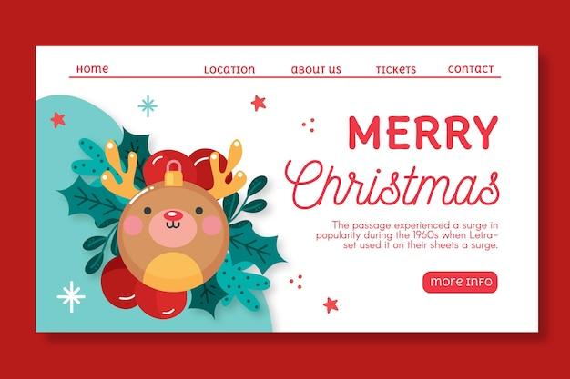 Página inicial de vendas de natal