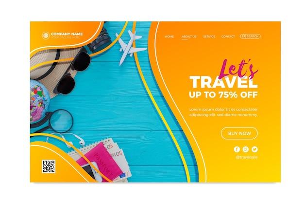 Página inicial de vendas de viagens