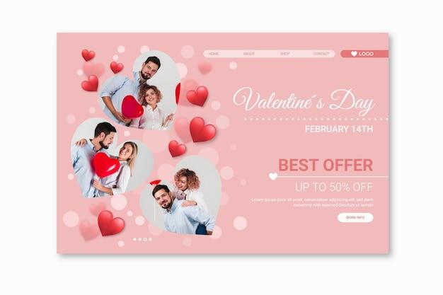 Página inicial de vendas do dia dos namorados
