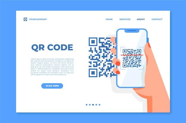 Página inicial de verificação do código qr