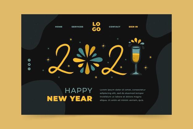 Página inicial desenhada à mão para o ano novo