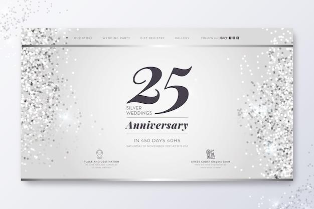 Página inicial do aniversário de 25 anos
