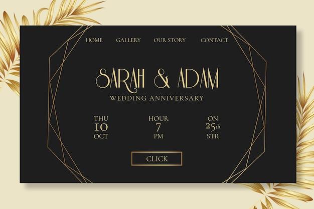 Página inicial do aniversário de casamento
