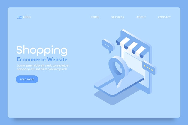 Página inicial do aplicativo de compras pelo celular