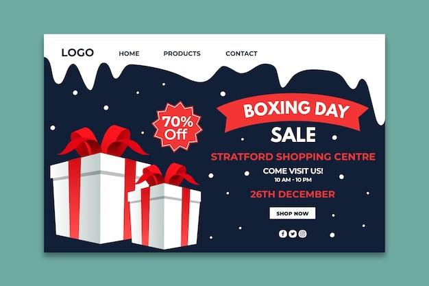 Página inicial do boxing day