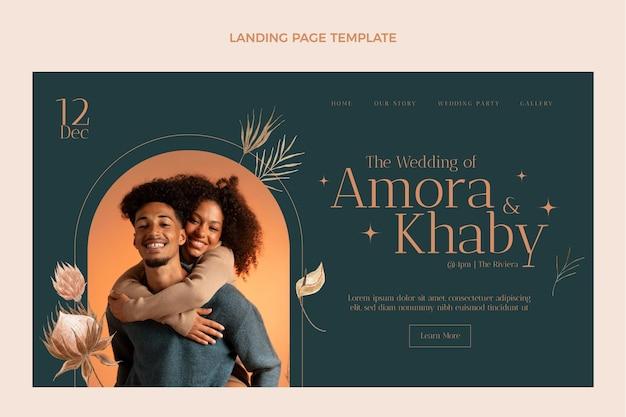 Página inicial do casamento boho em aquarela