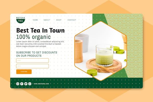 Página inicial do chá matcha