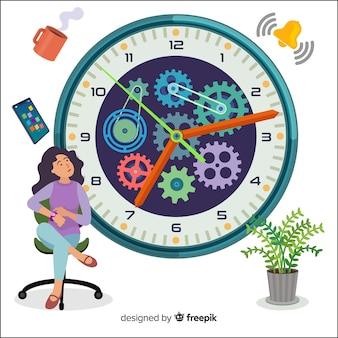 Página inicial do conceito de gerenciamento de tempo