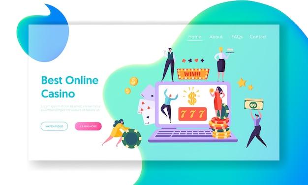 Página inicial do conceito de jogo de casino online.