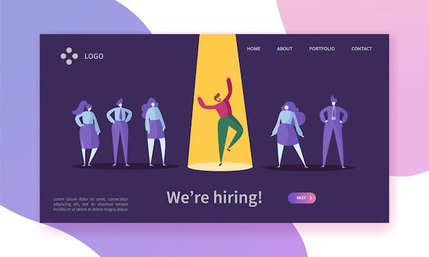 Página inicial do conceito de recrutamento de trabalho de negócios.