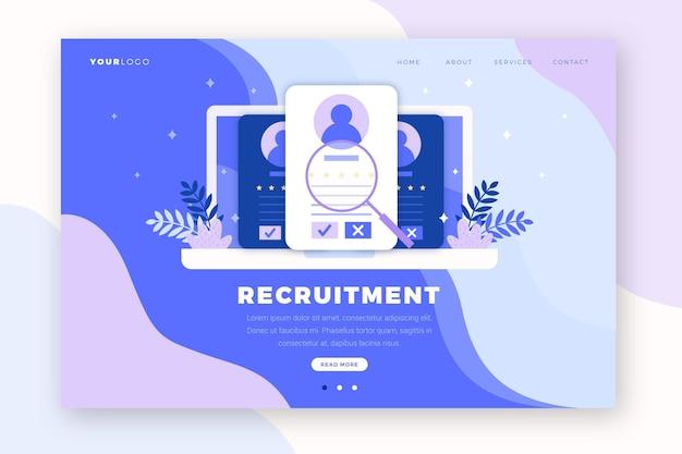 Página inicial do conceito de recrutamento
