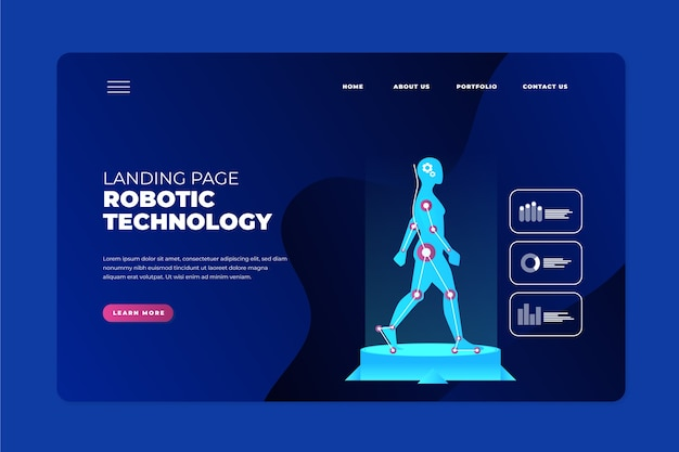 Página inicial do conceito de tecnologia