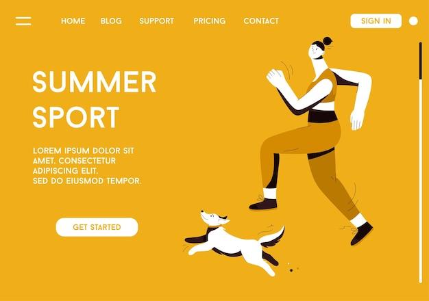 Página inicial do conceito summer sport