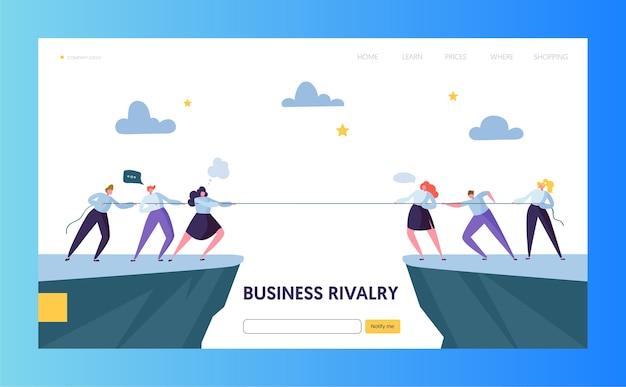 Página inicial do desafio da competição empresarial