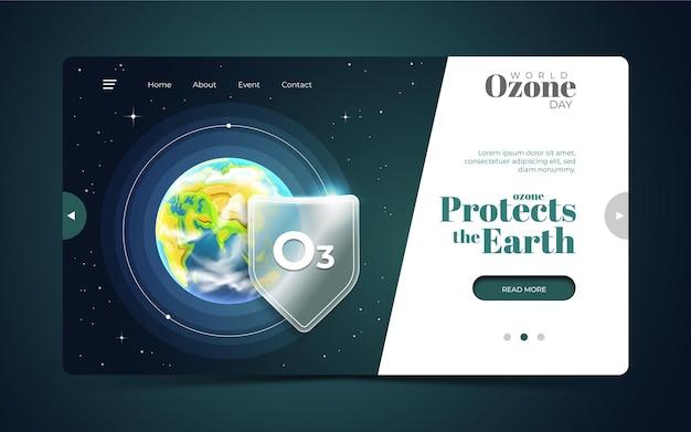 Página inicial do dia mundial do ozônio
