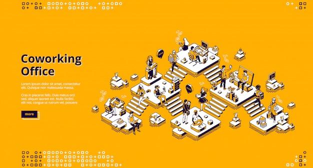 Página inicial do escritório de coworking