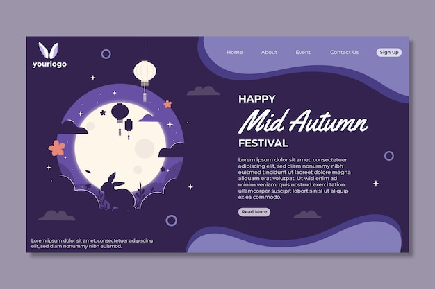 Página inicial do festival no meio do outono