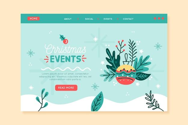 Página inicial do modelo de evento de natal