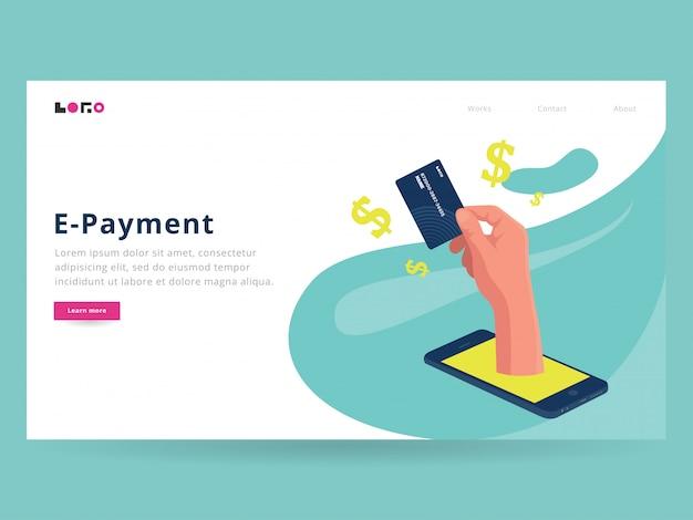 Página inicial do pagamento