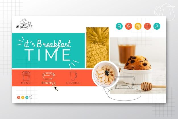 Página inicial do restaurante de café da manhã