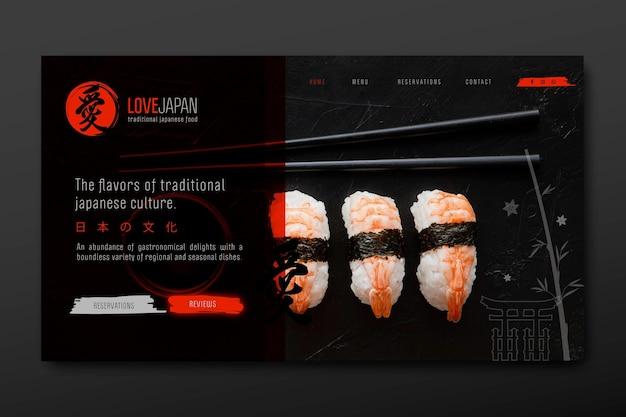 Página inicial do restaurante japonês