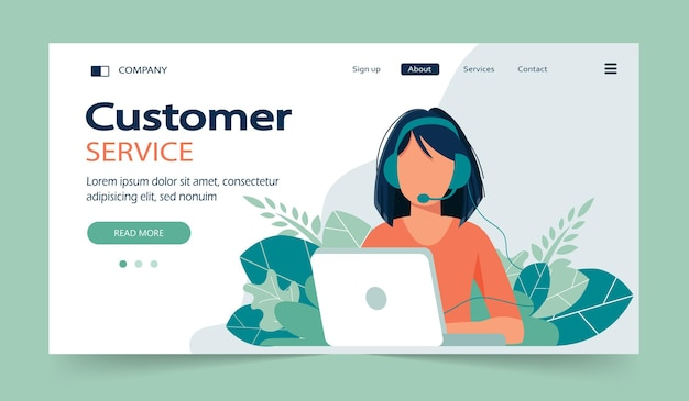 Página inicial do serviço de atendimento ao cliente empresarial