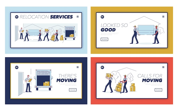 Página inicial do serviço de carregador de empresa de entrega profissional