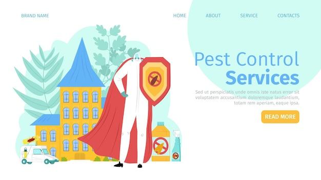 Página inicial do serviço de controle de insetos de pragas