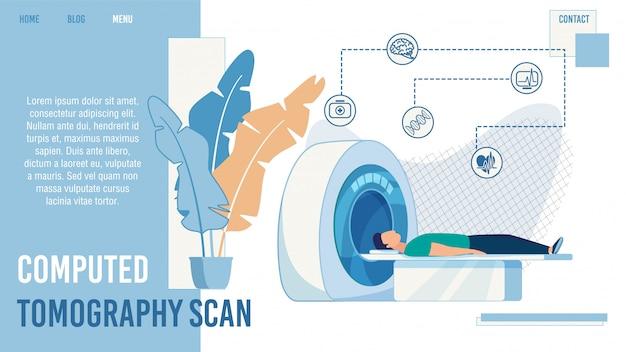 Página inicial do serviço de digitalização por tomografia computadorizada