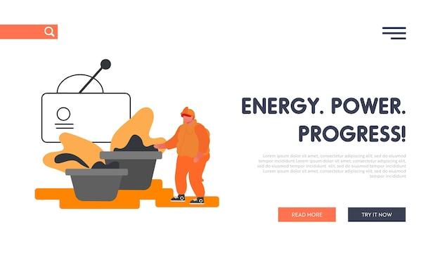 Página inicial do site da planta de produção de metal.