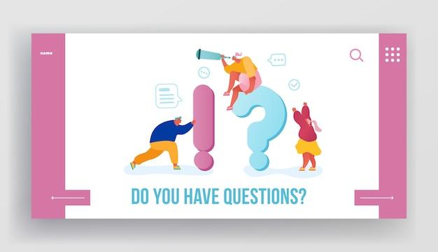 Página inicial do site de perguntas frequentes.