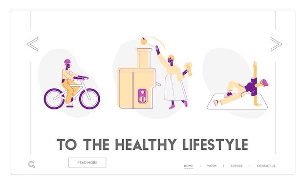 Página inicial do site de saúde física