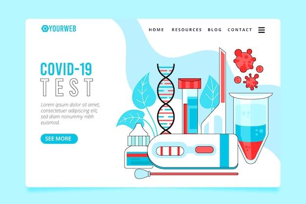 Página inicial do teste de coronavírus