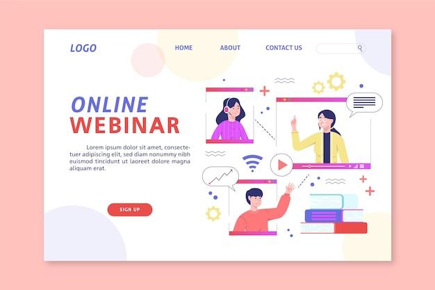 Página inicial do webinar online