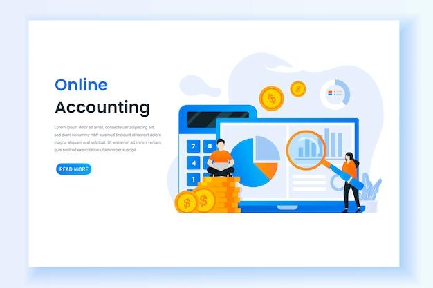 Página inicial para ilustração de contabilidade digital