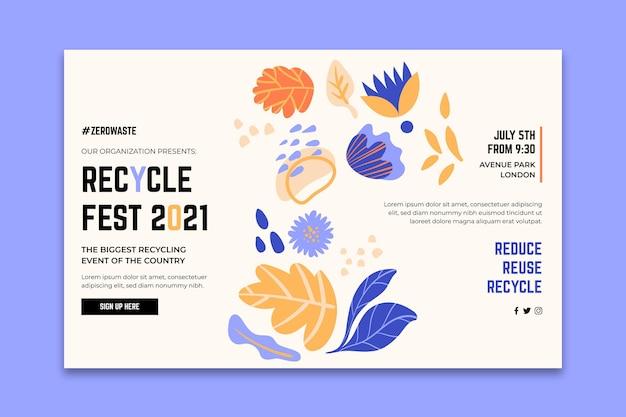 Página inicial para o festival do dia da reciclagem