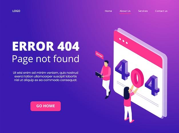 Página isométrica 404 não encontrada