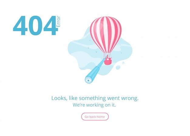 Página não encontrada 404 erro site