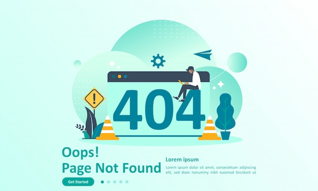 Página not found error 404 landing page