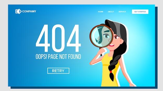 Página ops não encontrada 404 página de destino do erro