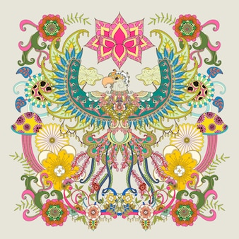 Página para colorir adulto águia majestosa
