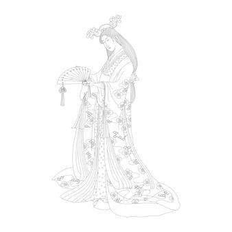 Página para colorir adulto de sotoori hime