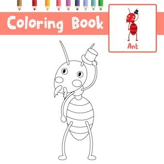 Página para colorir ant