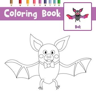 Página para colorir de morcego